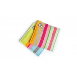 Lot de 2 maniques carrées multicolores rayées