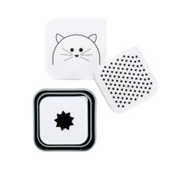 Lot de 3 boîtes à goûter carrées «Chat»