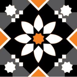Eponge Carrée Noir/gris/orange