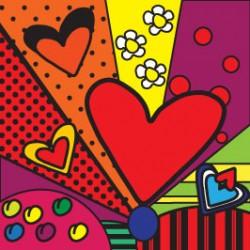 Eponge Carrée COEURS Multicolor