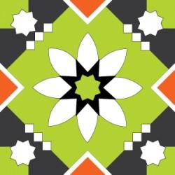 Eponge Carrée AUSTIN Vert/rouge
