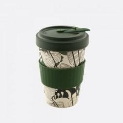 Mug en fibre de bambou Vert Jungle refermable