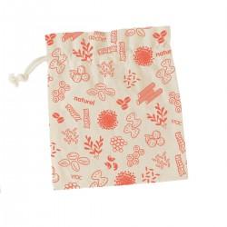 Sac à vrac en coton bio (S) Rouge