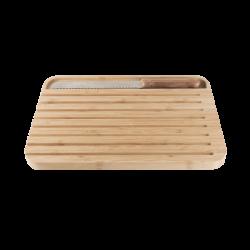 Petite planche à pain en bambou avec couteau aimanté PEBBLY