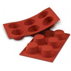 Moules Muffins x6 silic SILIKOMART