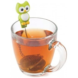 """Boule à thé tamis Hibou """"Hoot"""" VERT"""