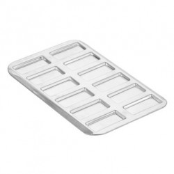 Moule Mini-financiers Plaque de 12 en fer blanc