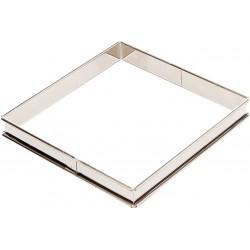 Cercle Tarte carré 20cm inox H2