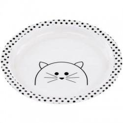 """Assiette en mélamine avec rebord """"Chat"""""""