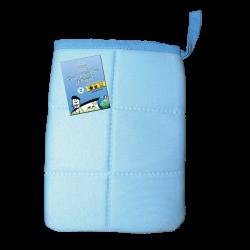 Gant microfibre nettoyant bleu