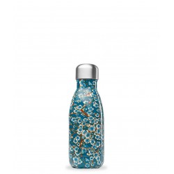 Bouteille isotherme 260ml Flowers Bleu QWETCH