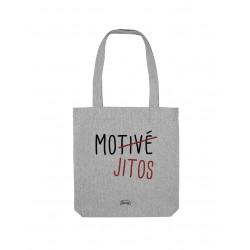 """Totebag Gris """"Motivé Mojito"""""""