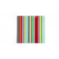 """Dessous de plat en verre carré """"Stripes"""""""
