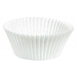 Caissettes PM Cupcakes Unis BLANC