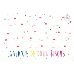 """Carte Postale 10x15 «Galaxie de doux bisous"""""""