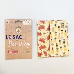 Emballages réutilisables en sachet x2 à la cire d'abeille...