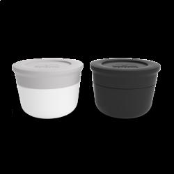 Set de 2 récipients à sauce Coton/Noir MONBENTO