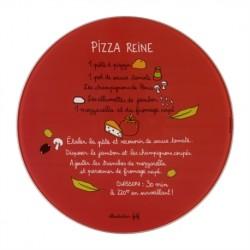 """Plat à pizza avec roulette """"Pizza Reine"""""""
