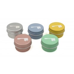 Boîte pour dentifrice solide ronde Inox