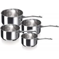 """Set de 4 casseroles inox 14-20cm """"Chef"""" BEKA"""
