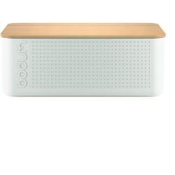 Boîte à pain rectangle blanche et bambou BISTRO BODUM